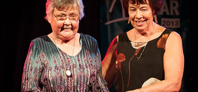 Joint Citizens of the Year 2013, Barbara Moreton and Rosemary Kirk.