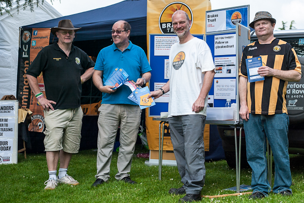 Adrian Barton, Graham Hobbins, Nick Rogers and Roy Sandison from the Brakes Trust - organisers of Citizen of the Year.